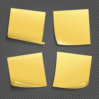 Notas adesivas amarelas isoladas