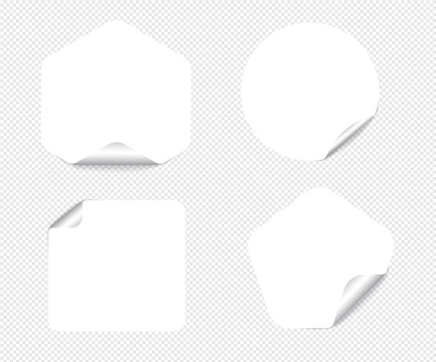 Notas adesivas realistas isoladas com sombra real