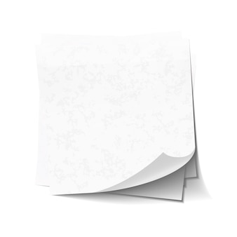 Notas auto-adesivas brancas na pilha isolada