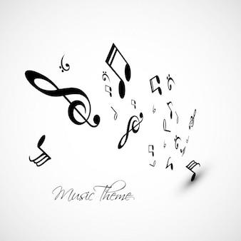 Notas da música de fundo