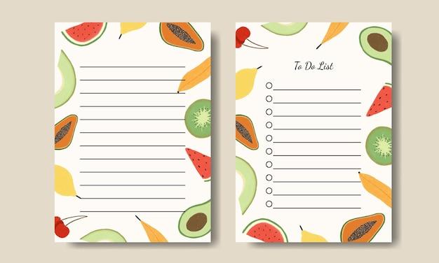 Notas de flores em aquarela e lista de tarefas para impressão