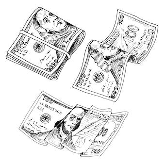 Notas de moeda detalhadas