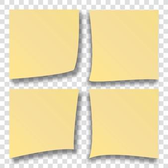 Notas de papel amarelo