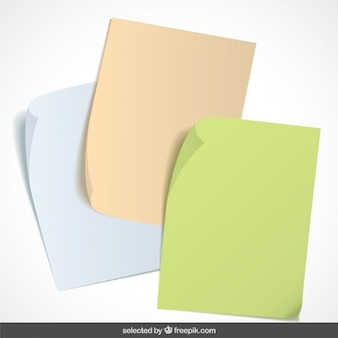 Notas de papel coleção