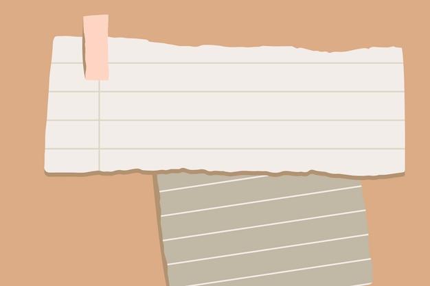 Notas de papel rasgado