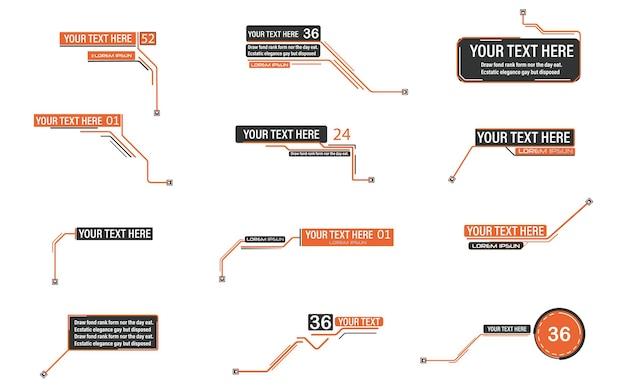 Notas de rodapé de legendas digitais layout para links e fonte de informação digital para publicidade