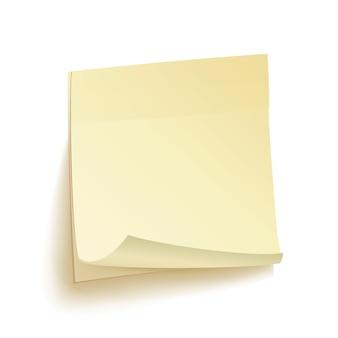 Notas de trabalho de papel isolado vector