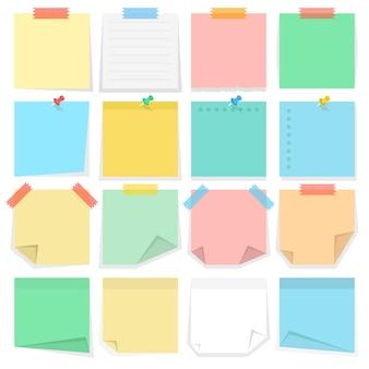 Notas e adesivos de papel