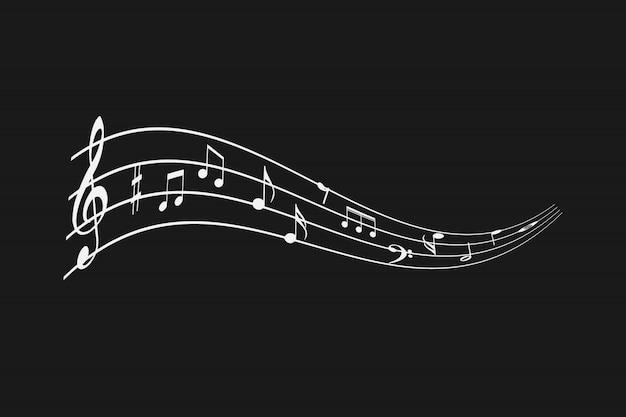 Notas musicais abstratas