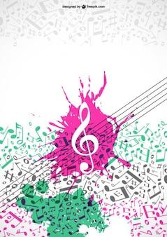 Notas musicais colorfull vetor