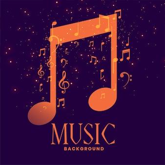 Notas musicais com design brilhante