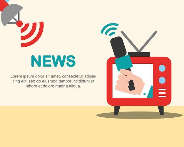Noticiário comunicação televisão avisos entrevista