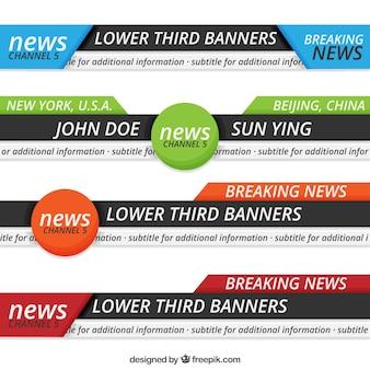 Notícias abstratas terços inferiores
