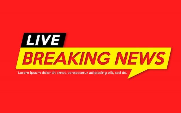 Notícias ao vivo banner ao vivo no vermelho.