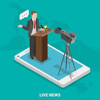 Notícias ao vivo móveis.