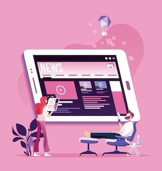 Notícias de leitura online. boletim informativo e informação