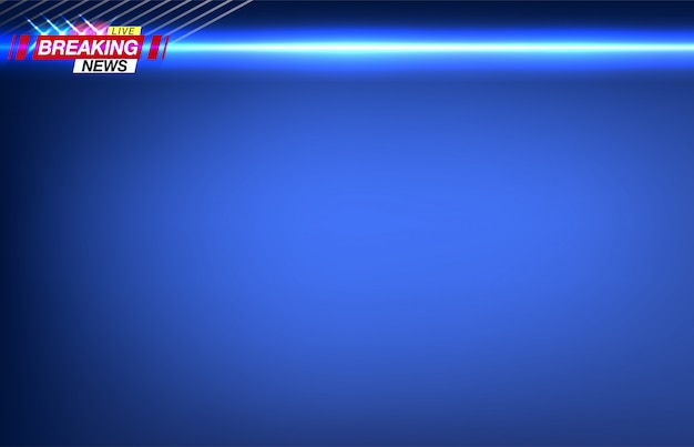Notícias de última hora da bandeira, notícias importantes, manchete sob a forma de luzes piscantes da polícia. imagem.