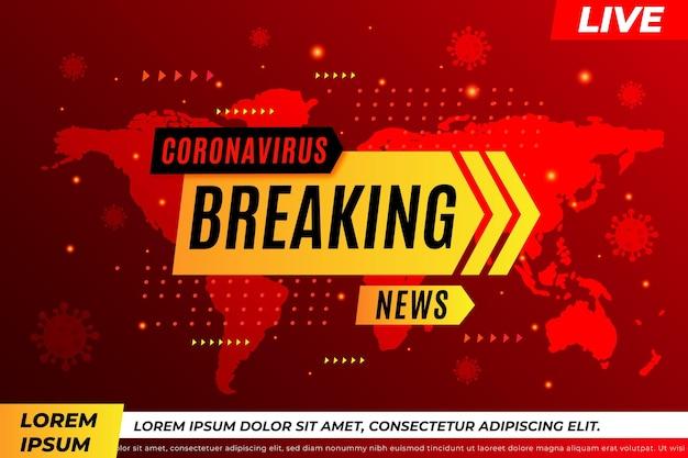 Notícias de última hora sobre o coronavírus - histórico