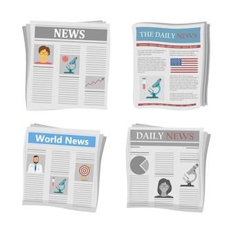 Notícias em papel, notícias de jornais.