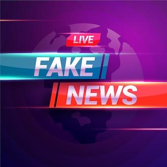 Notícias falsas ao vivo