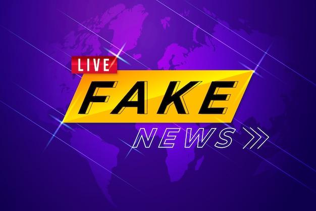 Notícias falsas de modelo de banner
