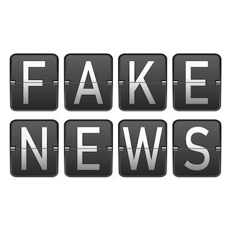 Notícias falsas flip estilo conceito de relógio.