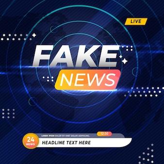 Notícias falsas na transmissão ao vivo
