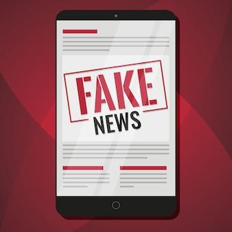 Notícias falsas no tablet
