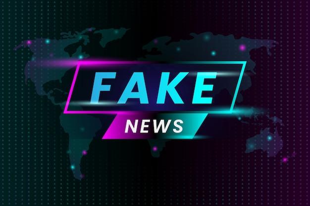 Notícias falsas que transmitem televisão