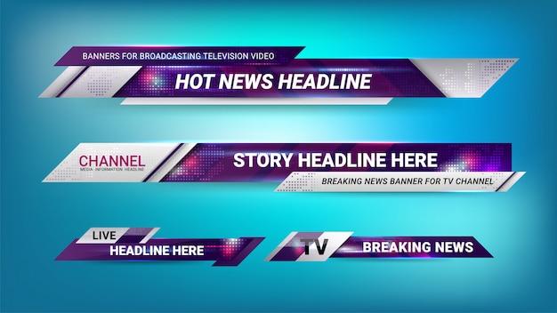 Notícias lower thirds template