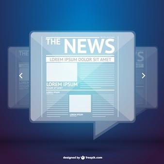 Notícias vector digital