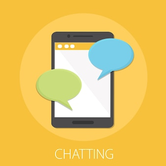 Notificação de mensagens de bate-papo no smartphone