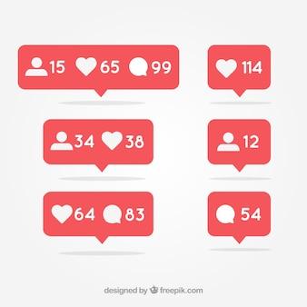 Notificação de mídia social