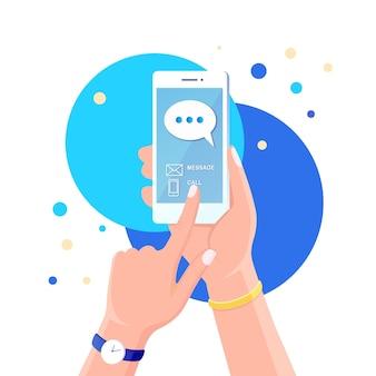 Notificação de novas mensagens de bate-papo no celular