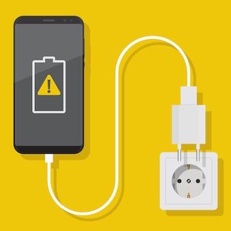 Notificação de uma bateria danificada