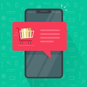 Notificação por push de pedido de telefone celular ou smartphone
