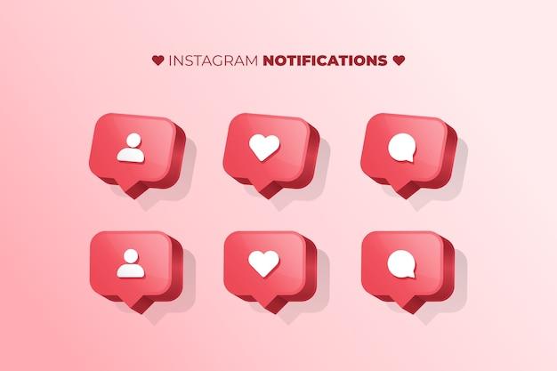 Notificações do instagram