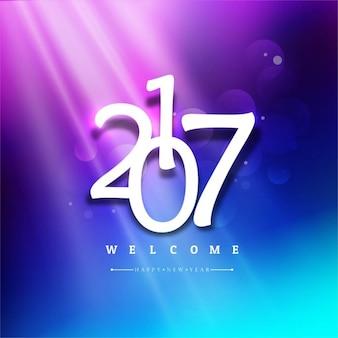 Nova ano de 2017 fundo colorido brilhante