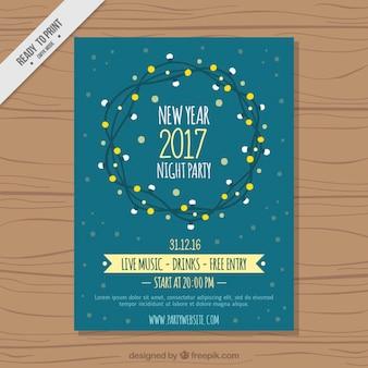 Nova brochura ano partido com luzes grinalda