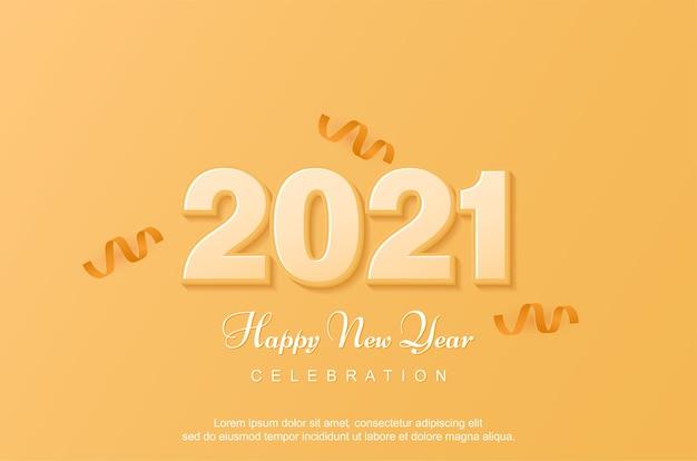 Nova celebração feliz com amarelo