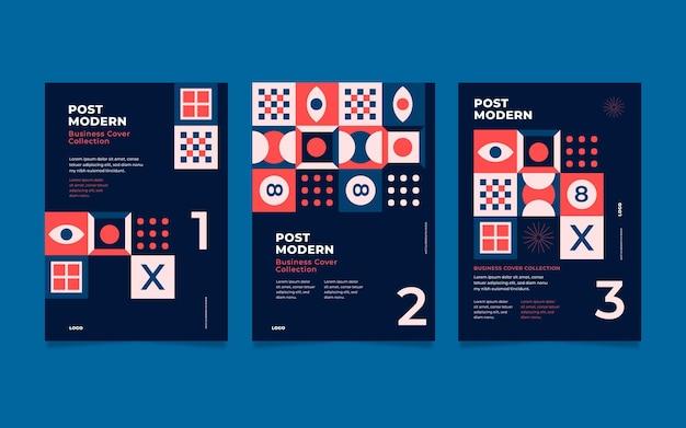 Nova coleção de capa de negócios de estética do modernismo