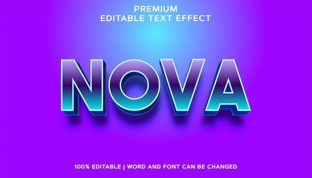 Nova - estilo de efeito de texto editável