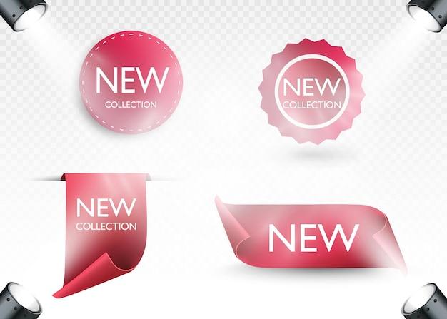 Nova etiqueta de coleção etiquetas de papel