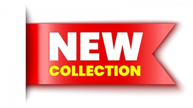 Nova faixa vermelha de coleção. adesivo ilustração.