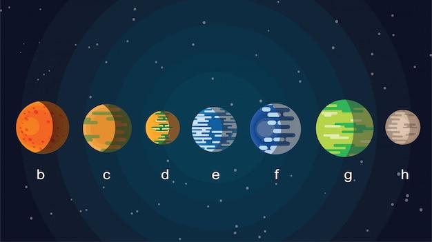 Nova galáxia com planetas