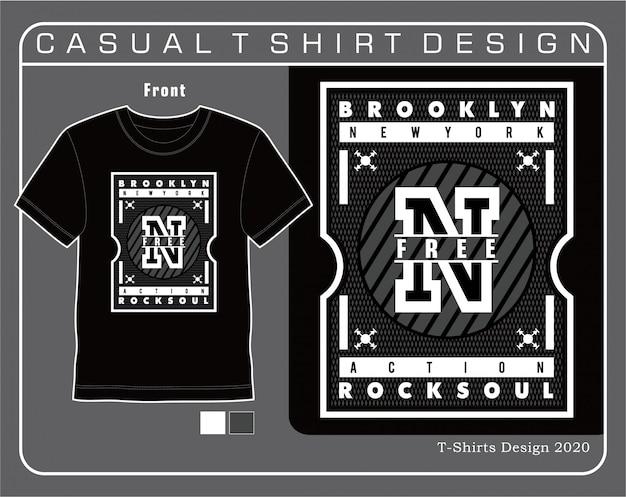 Nova iorque tipografia t-shirt design ilustração vetorial