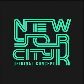 Nova iorque - tipografia