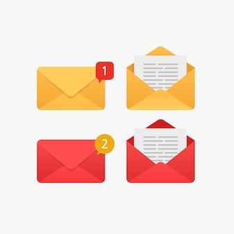 Nova mensagem de notificação de notificação por e-mail e caixa de entrada lida