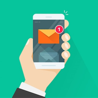 Nova notificação de mensagem de e-mail no celular