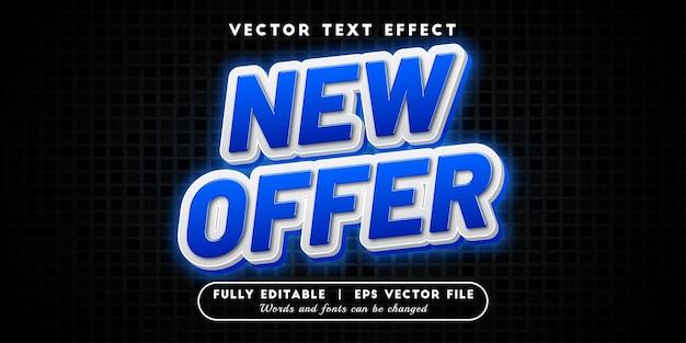 Nova oferta de efeito de texto com estilo de texto editável